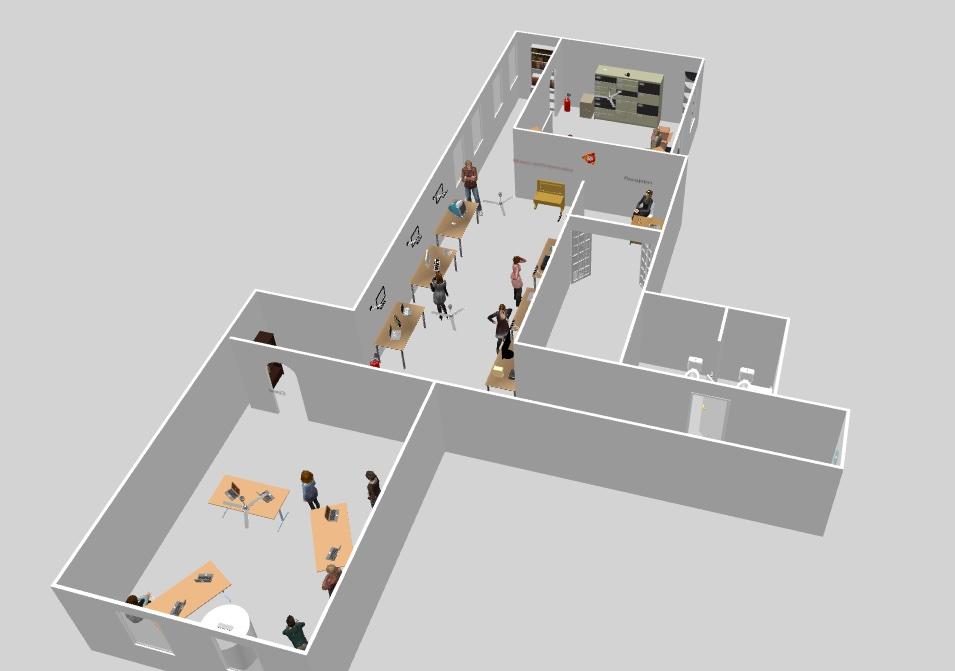 Un rendering della prima fase della realizzazione della nuova sede museale  Mupin