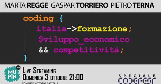 Mupin Talk S3E2 – Coding, Italia, formazione, sviluppo economico e competitività